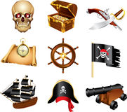 pirates icons detailed  set Royalty Free Stock Image