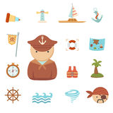 Pirates icons Royalty Free Stock Photo