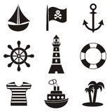 Pirates icons Royalty Free Stock Photography