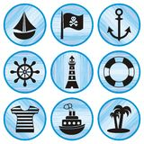 Pirates icons Stock Image