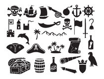 Pirates icons set royalty free illustration