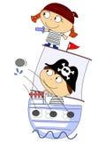 Pirates royalty free illustration