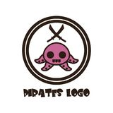 Pirates Logo Vector Art Logo Template and Illustration Royalty Free Illustration