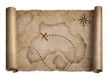 Pirates map Royalty Free Stock Photo