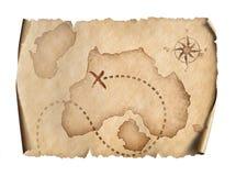 Pirates map Stock Photos