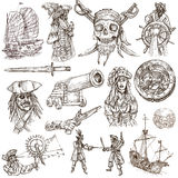 Pirates (no.2) - An hand drawn collection royalty free illustration