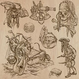 Pirates (no.7) - an hand drawn vector pack Stock Photos
