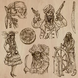 Pirates (no.8) - an hand drawn vector pack Stock Photography
