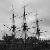 Pirates. Old pirates ship in hartlepool life Stock Photo