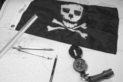 Pirates plotting to attack Stock Photography