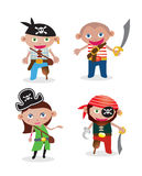 Pirates réglés de vecteur Photos libres de droits