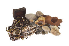 Pirates`seabed treasures. royalty free stock image