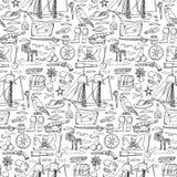 Pirates seamless pattern Stock Photography