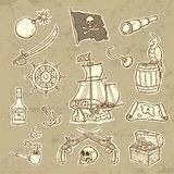 Pirates set Stock Photos