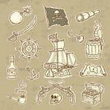 Pirates set. Beautifull Illustration of pirates set Stock Photos
