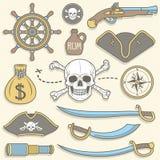 Pirates set Royalty Free Stock Photo