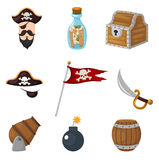 Pirates set Royalty Free Stock Photography