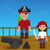 Pirates on the ship. Royalty Free Stock Photos