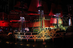 Pirates show at Treasure Island, Las Vegas. Stock Images
