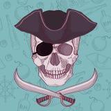 Pirates skull  illustration Stock Images