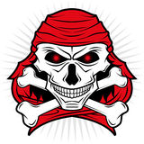 Pirates skull logo. An illustration of a pirates skull logo in two color image (red and black Stock Images