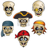 Pirates Skulls royalty free illustration