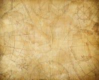 Pirates treasure map background illustration. Aged treasure map illustration background Royalty Free Stock Photo