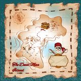 Pirates treasure map Royalty Free Stock Images