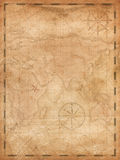 Pirates treasure map vertical background illustration. Aged treasure map illustration background Royalty Free Stock Images
