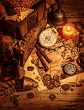 Pirates treasure still life Stock Photography