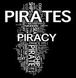 Pirates word cloud Stock Image