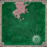 Piratez la carte du rendu inconnu de la terre 3d Photo stock