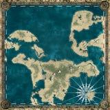 Piratez la carte du rendu inconnu de la terre 3d Photos libres de droits
