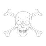 Piratez le crâne Photos libres de droits