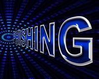 Pirati informatici di attacco di mezzi del pirata informatico di Phishing e vulnerabile Immagine Stock Libera da Diritti