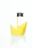 Piratic Paper Boat Royalty Free Stock Image
