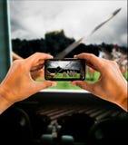 Pirating a movie Royalty Free Stock Photos