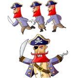 Piratkopiera animeringen för tecknad filmteckenet Royaltyfri Foto