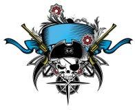 Piratkopiera banret royaltyfri illustrationer