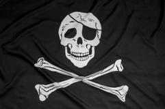 Piratkopiera flaggabakgrund Fotografering för Bildbyråer