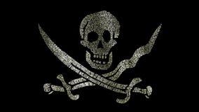 Piratkopiera flaggaflaggor vektor illustrationer