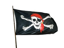Piratkopiera flaggan arkivfoton