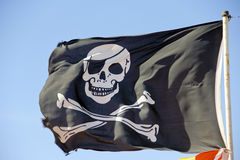 Piratkopiera flaggan Royaltyfria Bilder