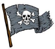 Piratkopiera flaggan Royaltyfri Bild