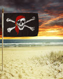 Piratkopiera flaggan Royaltyfri Fotografi
