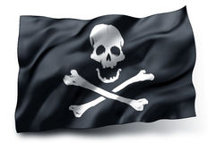 Piratkopiera flaggan Jolly Roger Royaltyfria Foton