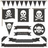 Piratkopiera flaggor Royaltyfria Bilder
