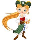Piratkopiera flickan Arkivfoto