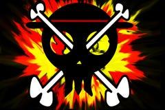 Piratkopiera glade roger Royaltyfria Bilder
