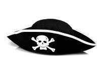 Piratkopiera hatten Fotografering för Bildbyråer